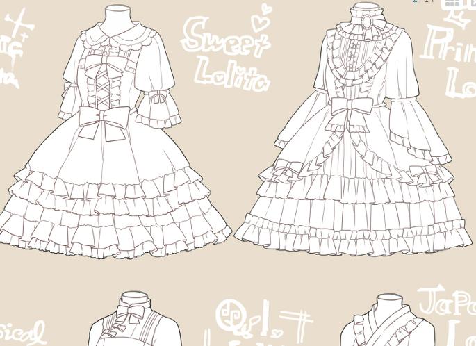 ドレス かっこいい ゴスロリ イラスト
